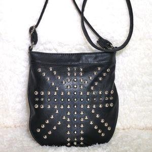 Yoki | Leather Studded Crossbody Bag